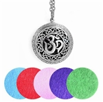 Antique Silver Om Aromatherapy Locket Pendant