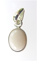 white coral pendant in sterling silver
