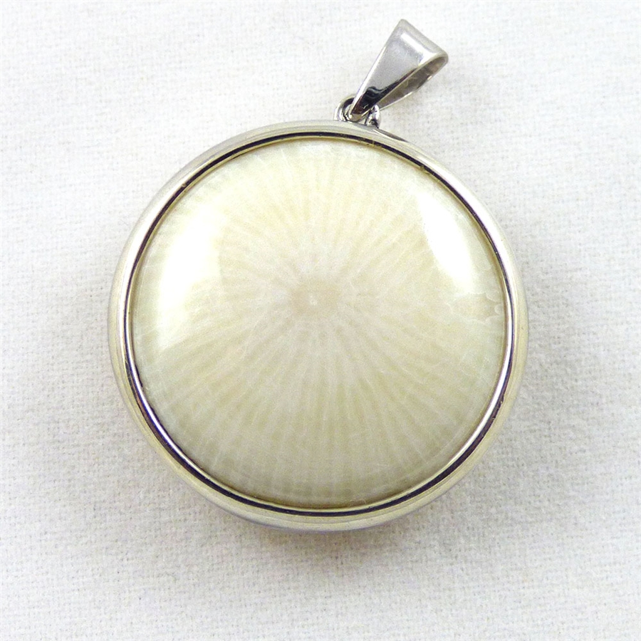 yellow oval coral pendant cabochon solid gold ygp red natural genuine products