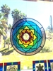 Chakra Mandala Rainbow  Stained glass Mobile