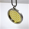 SGFOLP-21 Silver and Gold Plated Stainless Steel Flower Of Life Pendant with Chain