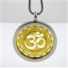 "SGOMP-29 Silver and Gold Plated Stainless Steel ""OM"" Pendant with Chain"
