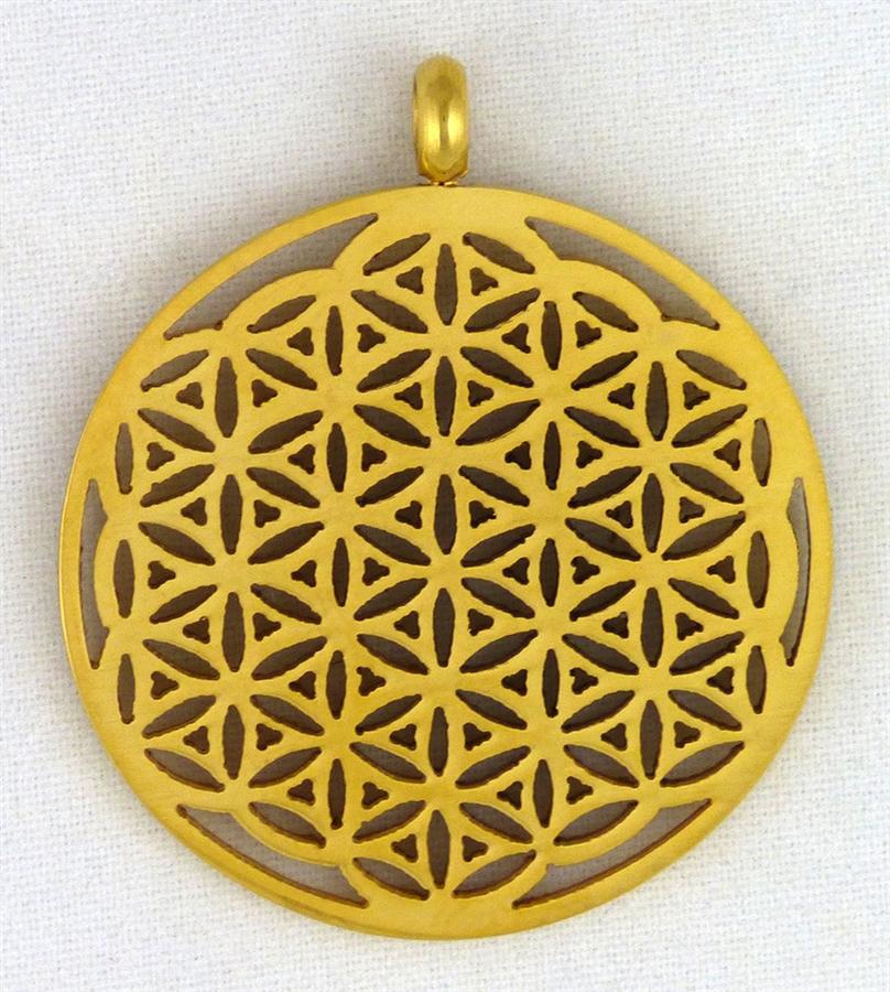 Flower of life pendant gold plated aloadofball Choice Image