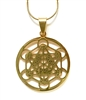 SGP-02-G  Metatron's Cube Gold Plated Stainless Steel Pendant