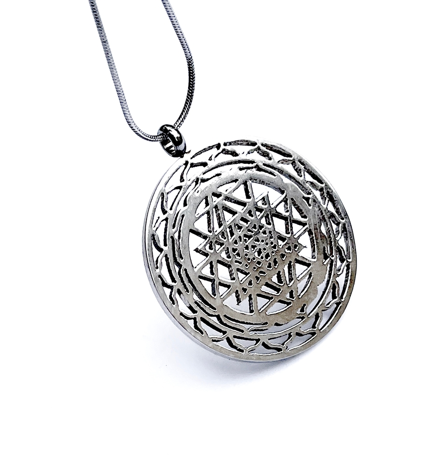 Shree yantra pendant in stainless steel alternative views aloadofball Choice Image