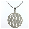 flower of life pendant stainless steel