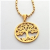 tree of life pendant stainless steel