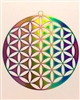 "SS-MOB-FOL  6"" Flower of Life Mobile - Anodized Titanium Stainless Steel"