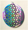"SSM-MOB-FOL  6"" Flower of Life Mobile - Anodized Titanium Stainless Steel with Mirror"