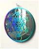 "SSM-MOB-MET  6"" Metatron's Cube Mobile - Anodized Titanium Stainless Steel with Mirror"