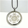 SSMETP-102 Silver Plated Stainless Steel Metatron Pendant with Chain