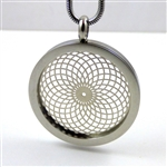 SSTVP-18 Silver Plated Stainless Steel Torus Vortex Pendant with Chain