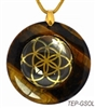Brown Agate Sacred Geometry Stone Pendants