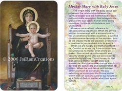 WA-002 Mother Mary with Baby Jesus - Wallet Altar
