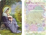 WA-124 Mother Mary with Baby Jesus - Wallet Altar