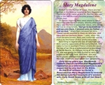 Pocket sized card of Mary Magdalene