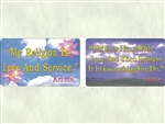 WA-141 My Religion Is Love and Service (Amma)  - Wallet Altar Quotes)