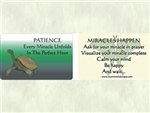WA-149 Patience Every Miracle Unfolds in the Perfect Hour - Wallet Altar