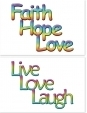WA-224 Live Love Laugh - Faith Hope Love - Wallet Altar