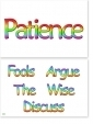 WA-229 Patience - Fools Argue, The Wise Discuss (Paramahansa Yogananda) - Wallet Altar