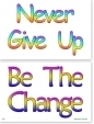 WA-234 Never Give Up - Be The Change (Mahatma Gandhi) - Wallet Altar