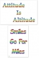 WA-235 Attitude Is Altitude - Smiles Go For Miles - Wallet Altar