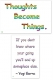 WA-238 Yogi Berra - Thoughts Become Things - Wallet Altar