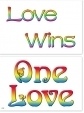 WA-239 One Love - Love Wins - Wallet Altar