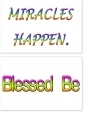 WA-241 Miracles Happen - Blessed Be - Wallet Altar