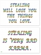 WA-248 Stealing Will Lose You The Things You Love - Stealing Is Very Bad Karma - Wallet Altar