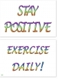 WA-250 Stay Positive - Exercise Daily! - Wallet Altar