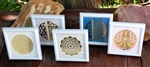 Framed 18K gold plated small Sacred Geometry grids
