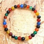WM-10 - Multi-colored Agate Bracelet