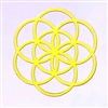 18k gold plated Seed of Life/ Flower of Life Healing Grid