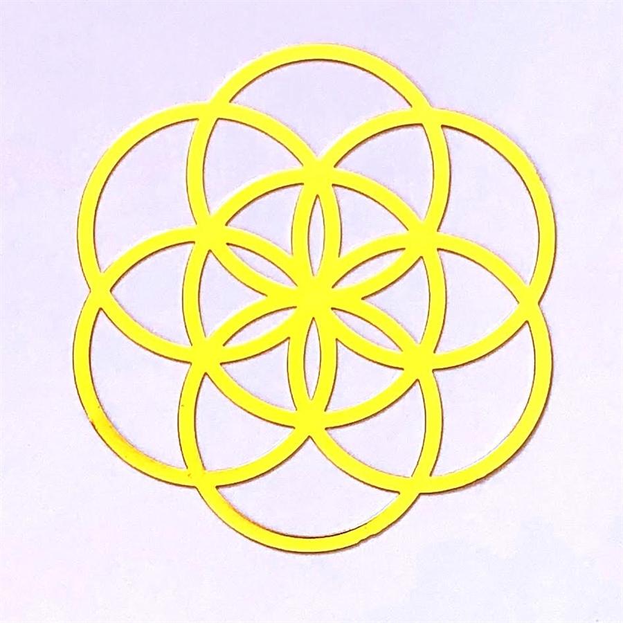 YA-109 18k Gold Plated Seed of Life Healing Grid