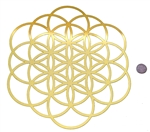 YA-12106 SOL/FOL 18 karat gold plated flower of life wall art