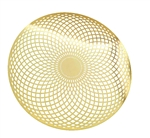 YA-1249 Torus Vortex  18 karat gold plated flower of life wall art