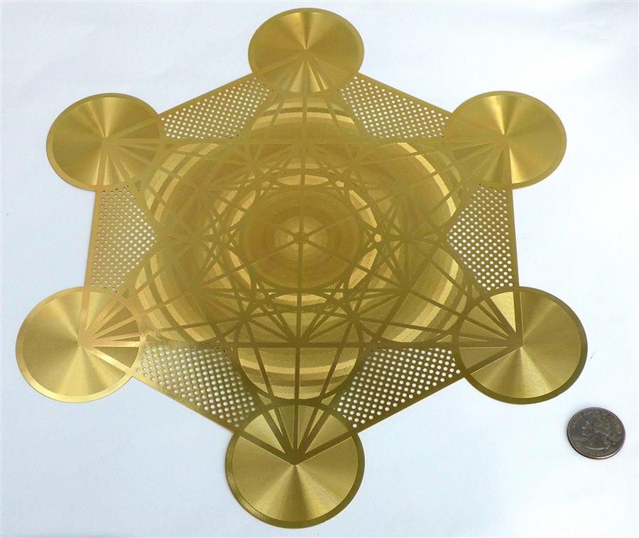 12 Inch Metatrons cube Stencil