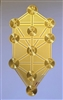 YA-1250 18 karat gold plated flower of life wall art