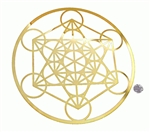 YA-1261 18 karat gold plated metatron cut out