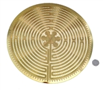 YA-1269 Labyrinth 18 karat gold plated flower of life wall art