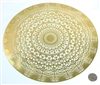 YA-1270 Dodecahedron 18 karat gold plated flower of life wall art
