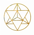 YA-1283 Merkaba 18 karat gold plated wall art