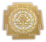 18k gold plated Shree yantra Healing Grid