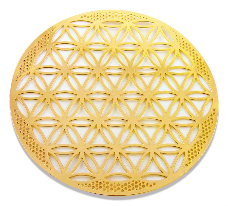18 karat gold plated flower of life wall art