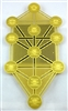 gold plated tree of life kabbalah fridge magnet