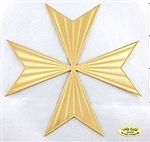 cross of saint germain - 18 karat gold plated