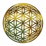 18 karat gold plated flower of life wall art