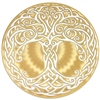 celtic tree of life icon 18k gold plated