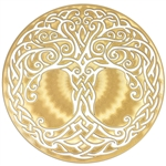 18k gold plated Tree of Life Healing Grid